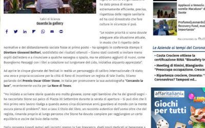 Affari italiani.it – Passaggi Festival 2020, la cultura trionfa sul Covid