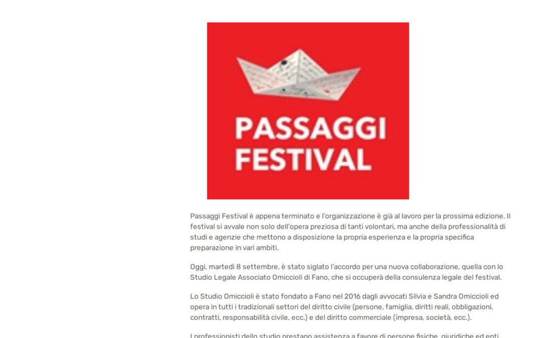 Pesaro notizie.com – Per Passaggi Festival una nuova collaborazione