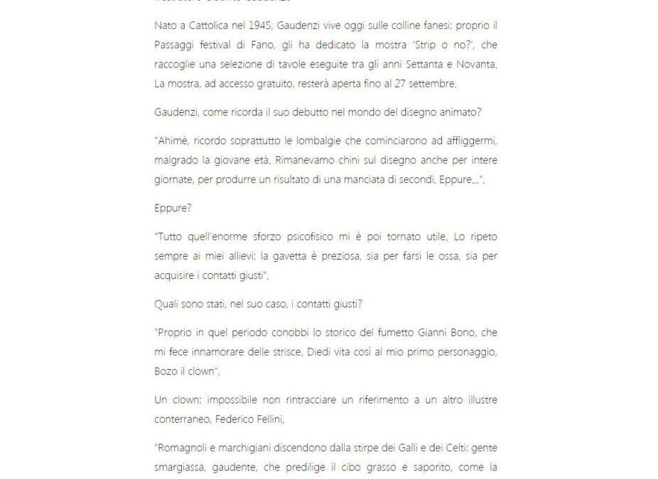 Il Resto del Carlino.it – Gaudenzi e l'arte di meravigliare