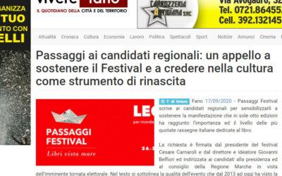 Viverefano – Passaggi ai candidati regionali: un appello a sostenere il Festival