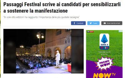 Il Resto del Carlino.it – Passaggi Festival scrive ai candidati per sensibilizzarli a sostenere la manifestazione